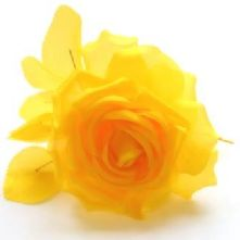 61/2 Bright Yellow Silk Rose